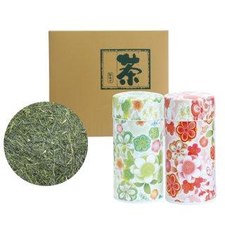 八十八夜セット 花缶(緑・赤)200g×2缶入