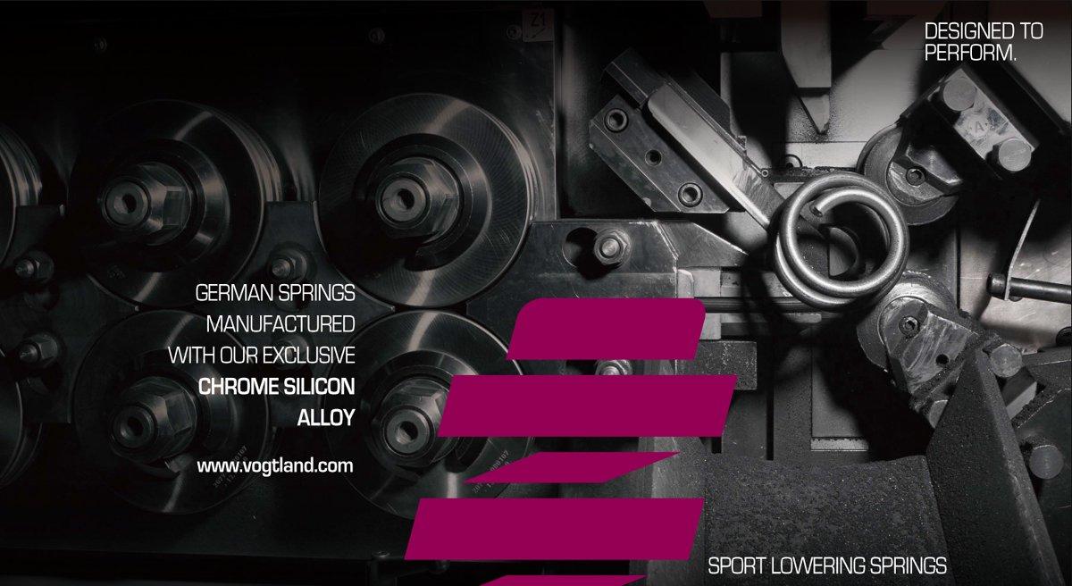 【VOGTLAND】 スポーツスプリング #956069 フォルクスワーゲン POLO 6R 6C 1.4T, 1.4T GTI , 1.8T GTI