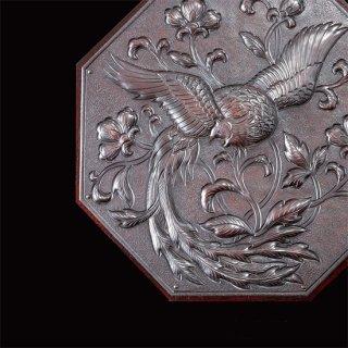 彫金レリーフミラー 鳳凰