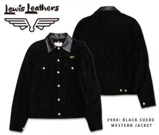 【Lewis Leathers/ルイスレザーズ】レザージャケット#988: BLACK SUEDE WESTERN JACKET