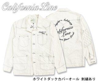【CALIFORNIA LINE/カリフォルニアライン】ジャケット/ ホワイトダックカバーオール 刺繍あり/CLJ19-001