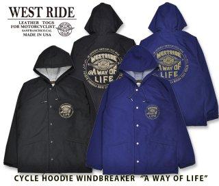 【WESTRIDE/ウエストライド】ウィンドブレーカー/ CYCLE HOODIE WINDBREAKER