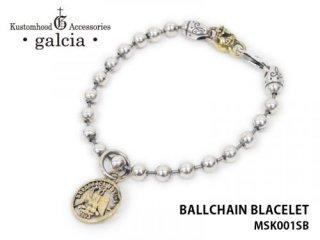 【galcia/ガルシア】ブレスレット/BR-MSK001SB BALLCHAIN BLACELET