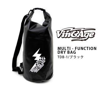 【Vin&Age/ヴィンアンドエイジ】ショルダーバッグ/MULTI-FUNCTION DRY BAG:TDB-1ブラック