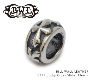 【Bill Wall Leather/ビルウォールレザー】チャーム/C333:Lucky Cross Slider Charm