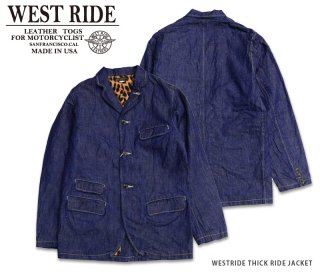 【WESTRIDE/ウエストライド】デニムジャケット/ THICK RIDE JACKET MB1513