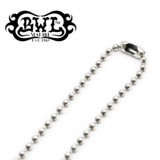 【Bill Wall Leather/ビルウォールレザー】ネックレスチェーン/N832:Ball Chain w/BWL tag 3mm