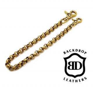 【BACKDROP Leathers / バックドロップ・レザーズ】ウォレットチェーン(ブラス)