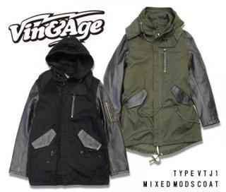 【Vin&Age/ヴィンアンドエイジ】ジャケット/TYPE VTJ1 MIXED MODS COAT /ミックスモッズコート
