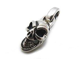 【Bill Wall Leather/ビルウォールレザー】チャーム/C323:Good Luck Skull