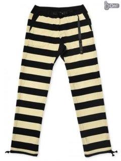 【WEST RIDE/ウエストライド】ボトム/ BORDER LONG PANTS:ブラック×クリーム