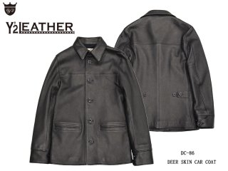 【Y'2 LEATHER/ワイツーレザー】レザージャケット/ DC-86 DEER SKIN 30'S CAR COAT