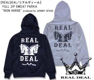 【REALDEAL/リアルディール】フルジップスウェットパーカー/FULL ZIP SWEAT PARKA