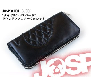 【JOHNNY SPADE/ジョニースペード】 JOSP×HOT BLOOD 「ダイヤモンドスペード」 ラウンドファスナーウォレット
