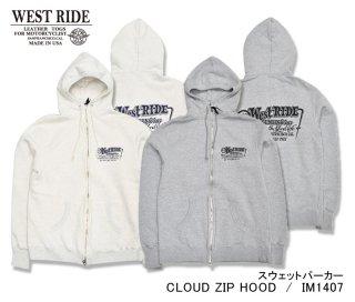 【WESTRIDE/ウエストライド】スウェットパーカー / CLOUD ZIP HOODIE