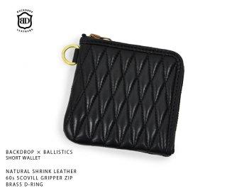【BACKDROP leathers/バックドロップレザーズ】ショートウォレット/BACKDROP × BALLISTICS SHORT WALLET