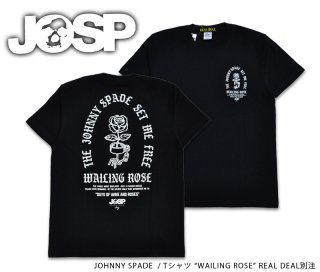 【JOHNNY SPADE/ジョニースペード】Tシャツ WAILING RODE  /REALDEAL別注:JSRD-L