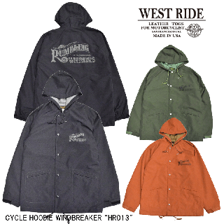 "【WESTRIDE/ウエストライド】CYCLE HOODIE WINDBREAKER ""HR013"""
