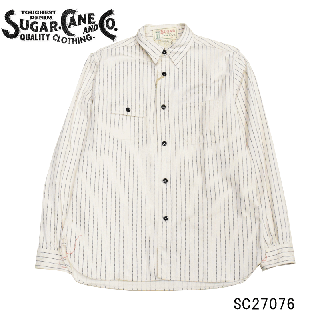 【SUGAR CANE/シュガーケーン】 SC27076 FICTION ROMANCE8.5oz. WHITE WABASH WORK SHIRT