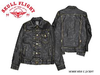 【SKULL FLIGHT/スカルフライト】レザージャケット/HORSE HIDE G JACKET:SFL20-002