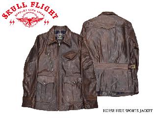 【SKULL FLIGHT/スカルフライト】レザージャケット/HORSE HIDE SPORTS JACKET:SFL20ー004