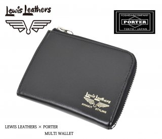 【Lewis Leathers/ルイスレザーズ】×【PORTER/ポーター】財布/MULTI WALLET