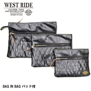 【WEST RIDE/ウエストライド】 BAG IN BAG パッド付