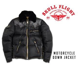 【SKULL FLIGHT/スカルフライト】ダウンジャケット/MOTORCYCLE DOWN JACKET