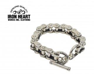【IRON HEART/アイアンハート】バイクチェーンタイプ シルバーブレスレット/IHSIー02