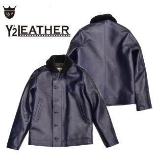 【Y'2 LEATHER/ワイツーレザー】レザージャケット/INDIGO HORSE N-1 JACKET:IN-1