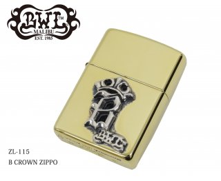 【Bill Wall Leather/ビルウォールレザー】ZIPPO/ZL-115 B CROWN ZIPPO