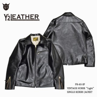 "【Y'2 LEATHER/ワイツーレザー】レザージャケット/PR-65-SP:VINTAGE HORSE""Light"" SINGLE RIDERS JACKET"