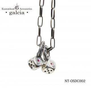 【galcia/ガルシア】ペンダント/NT-OSDC002:DICE PENDANT with RUBY(2mm)