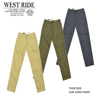 【WESTRIDE/ウエストライド】ボトム/THICK RIDE SLIM CHINO PANTS:MB1719-1