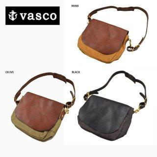 【VASCO/ヴァスコ】BAG/キャンバス×レザーメールバッグ スモール:VSー249P