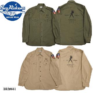 【Buzz Rickson's バズリクソンズ】シャツ/ヘリンボーンワークシャツ /A.V.G./BR28661