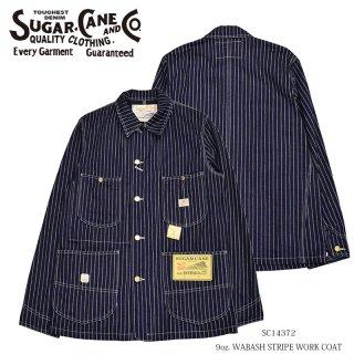 【SUGAR CANE/シュガーケーン】9oz. WABASH STRIPE WORK COAT:SC14372