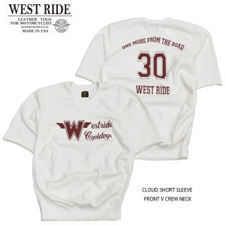 【WEST RIDE/ウエストライド】スウェット/CLOUD SHORT SLEEVE FRONT V CREW NECK