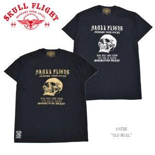 【SKULL FLIGHT/スカルフライト】Tシャツ/OLD SKULL