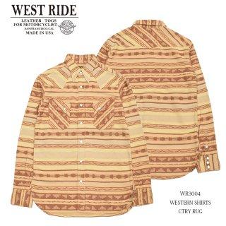 【WEST RIDE/ウエストライド】シャツ/WR3004 WESTERN SHIRTS :MB005
