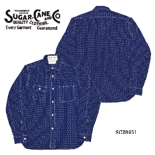 【SUGAR CANE/シュガーケーン】 4.5oz. INDIGO WORK SHIRT/SC28651