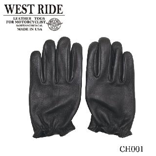 【WESTRIDE/ウエストライド】グローブ/CLASSIC SHORT GLOVE BLK