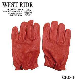 【WESTRIDE/ウエストライド】グローブ/CLASSIC SHORT GLOVE RED