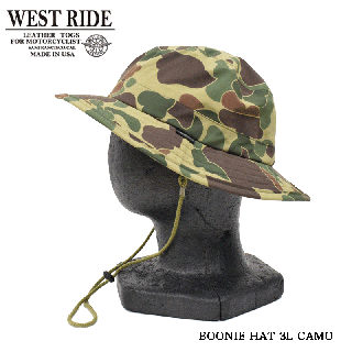 【WEST RIDE/ウエストライド】ハット/BOONIE HAT 3L CAMO