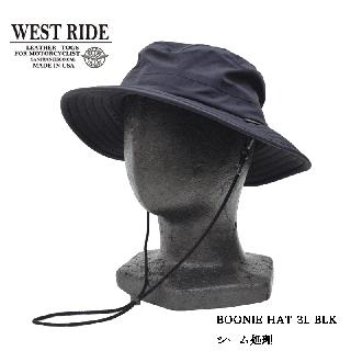 【WEST RIDE/ウエストライド】 ハット/BOONIE HAT 3L BLK