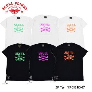 【SKULL FLIGHT/スカルフライト】Tシャツ/ZIP Tee:CROSS BONE