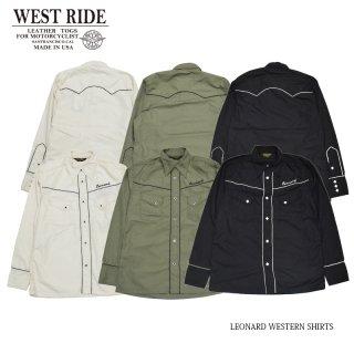 【WEST RIDE/ウエストライド】シャツ/LEONARD WESTERN SHIRTS