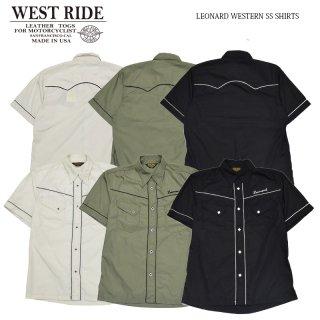 【WEST RIDE/ウエストライド】半袖シャツ/LEONARD WESTERN SS SHIRTS