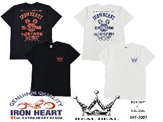 【IRON HEART / アイアンハート】×【REAL DEAL/リアルディール】WネームTシャツ/IHTー2007