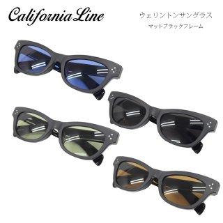 【CALIFORNIA LINE/カリフォルニアライン】ウェリントンサングラス/マットブラックフレーム